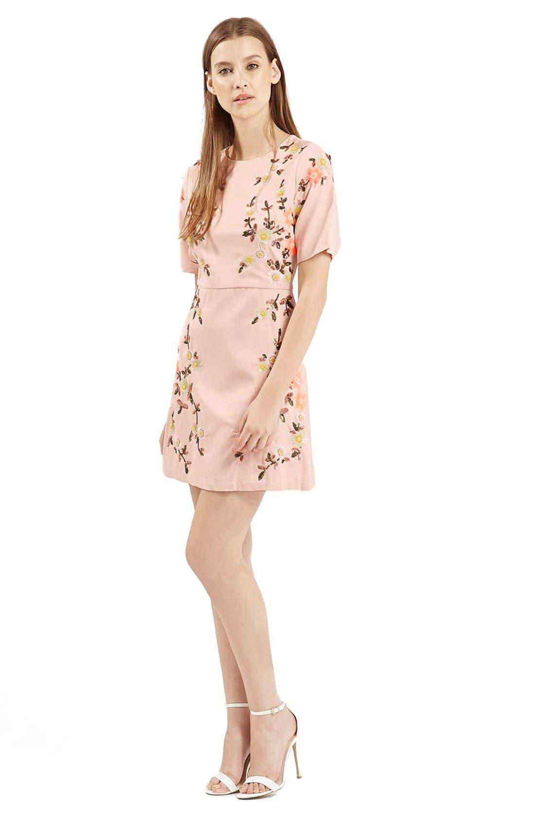 Alternate Image 1 Selected - Topshop Embellished A-Line Dress
