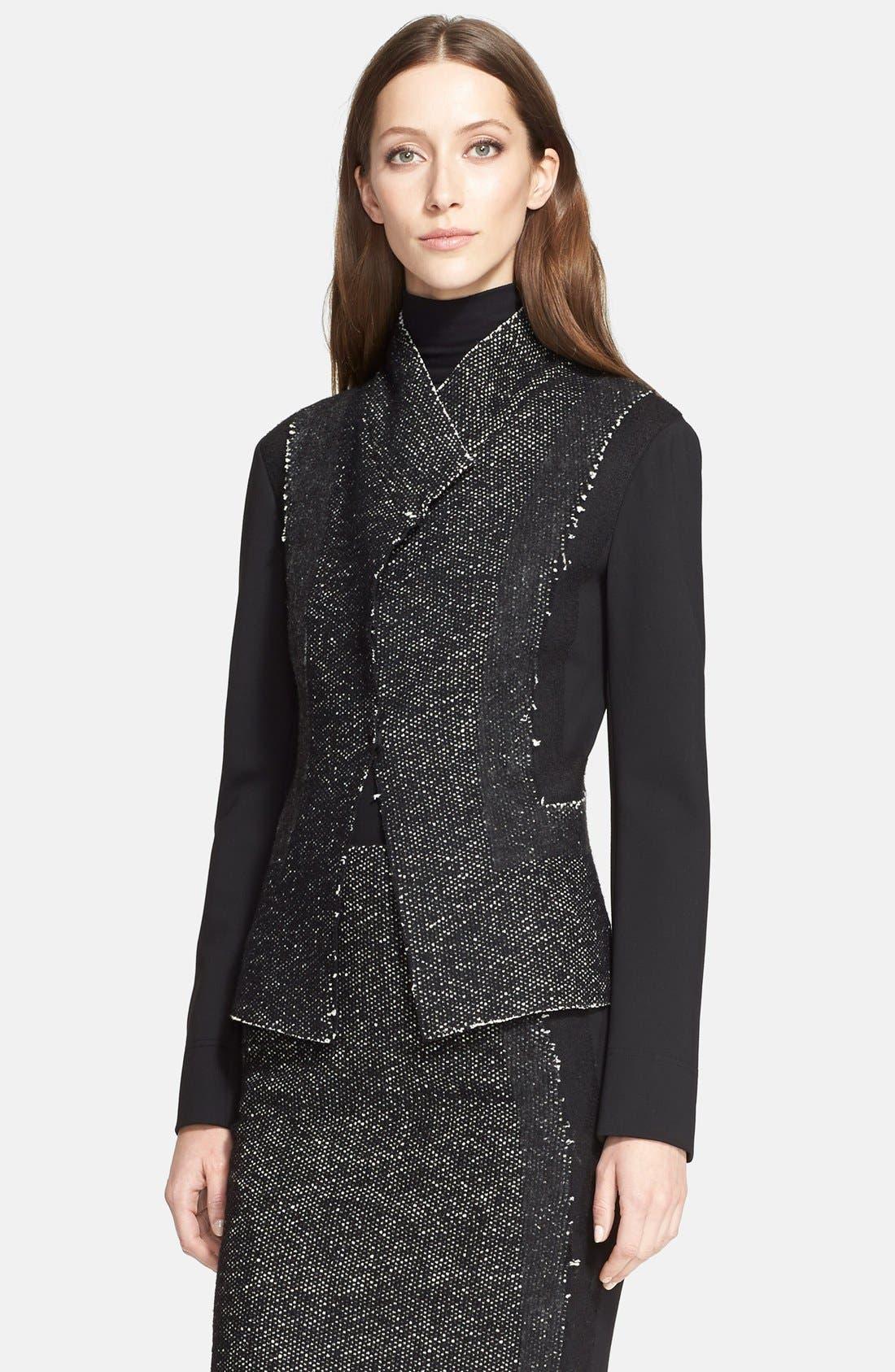 Alternate Image 3  - Donna Karan New York Tweed & Jersey Jacket