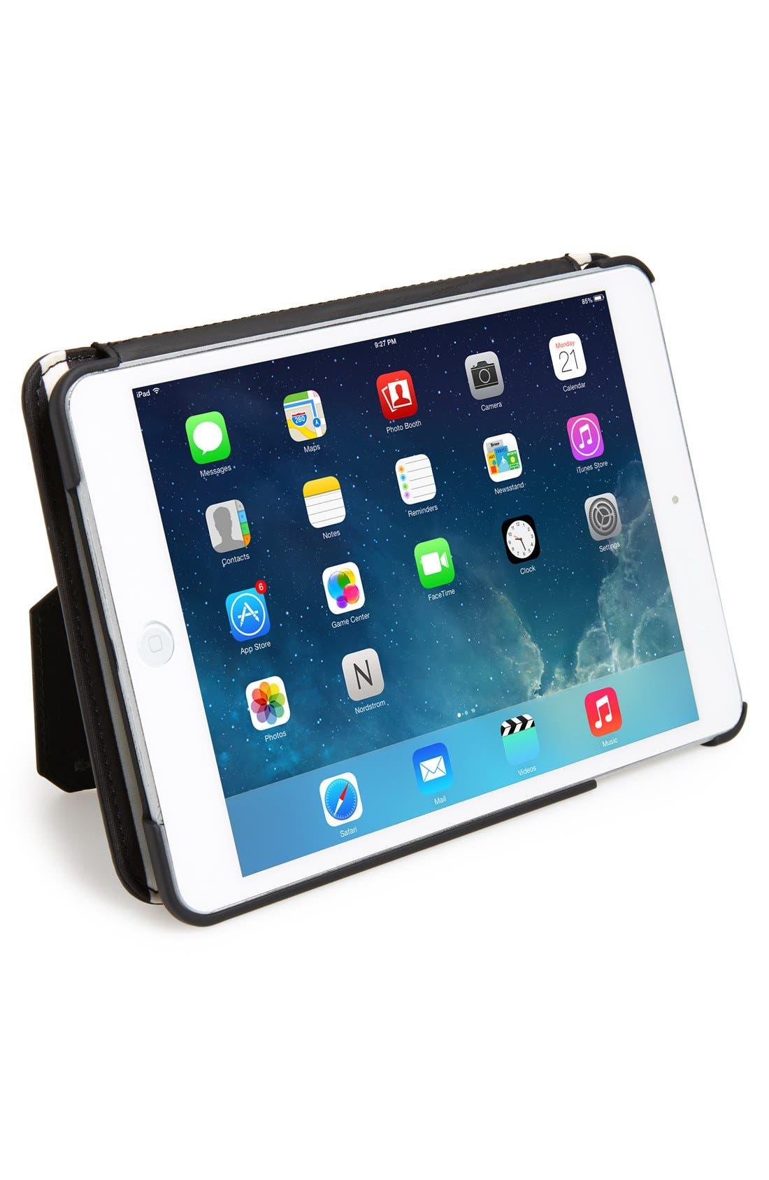 Main Image - kate spade new york 'classic nylon stripe' iPad mini folio case