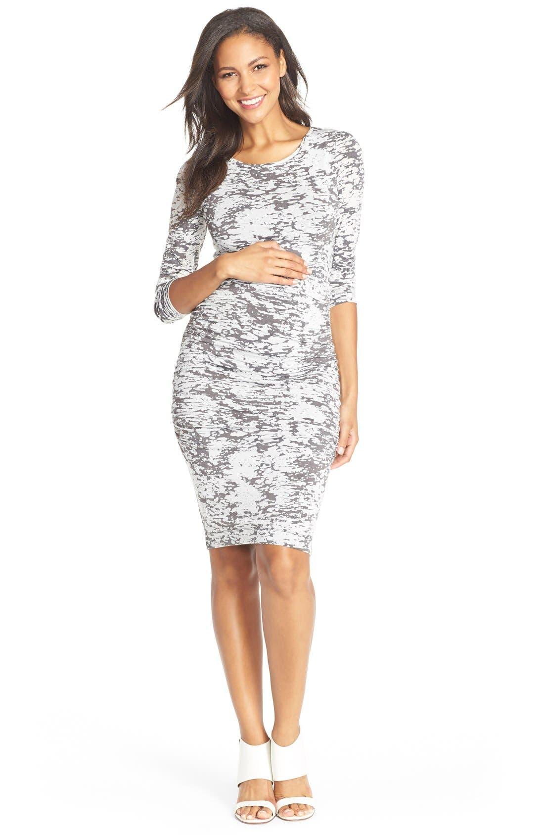 Tart Maternity 'Presley' Print Body-Con Maternity Dress