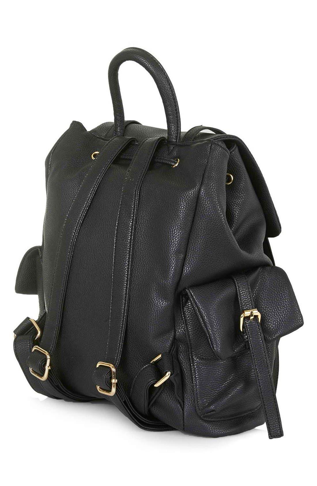 Alternate Image 3  - Topshop 'Edinburgh' Faux Leather Backpack