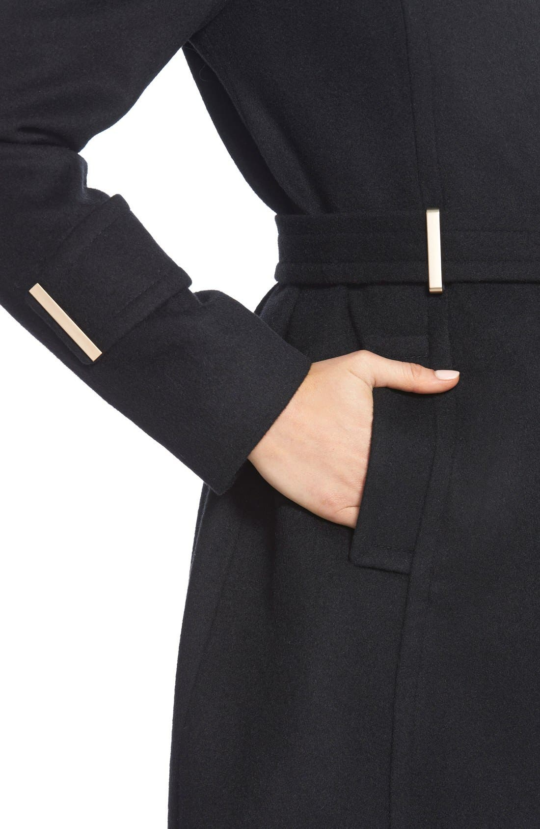 Alternate Image 6  - T Tahari'India' Wool Blend Wrap Coat