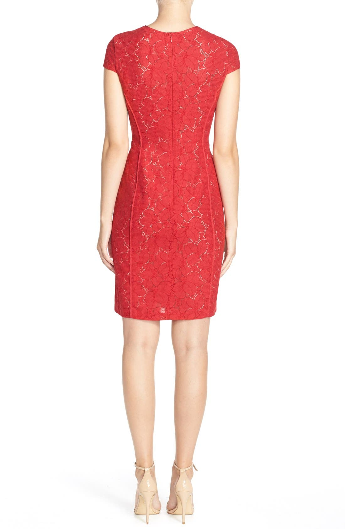 Alternate Image 2  - Marc New York Lace Sheath Dress