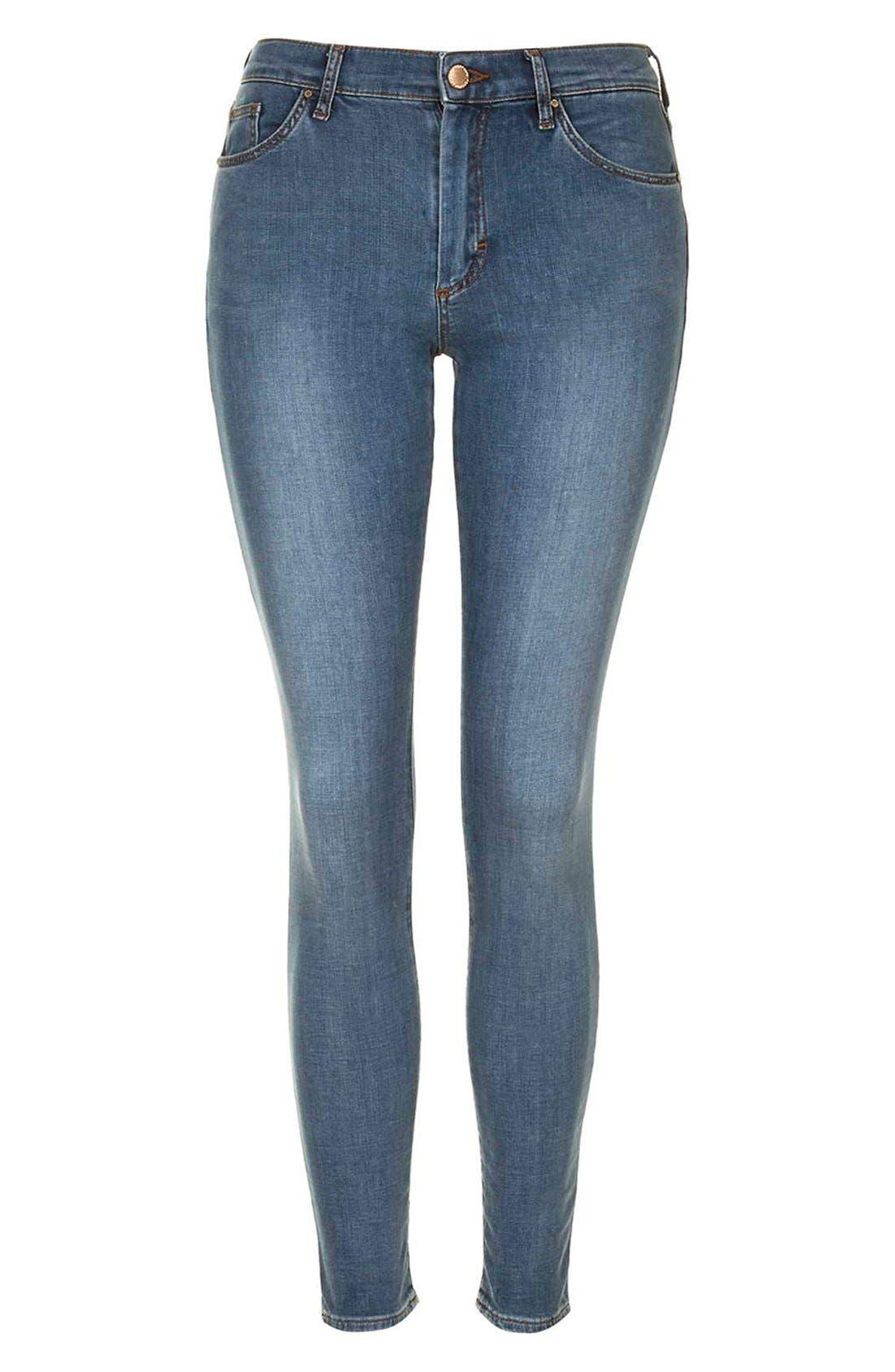 Alternate Image 4  - TopshopMoto'Leigh'AnkleSkinny Jeans (Light Denim)