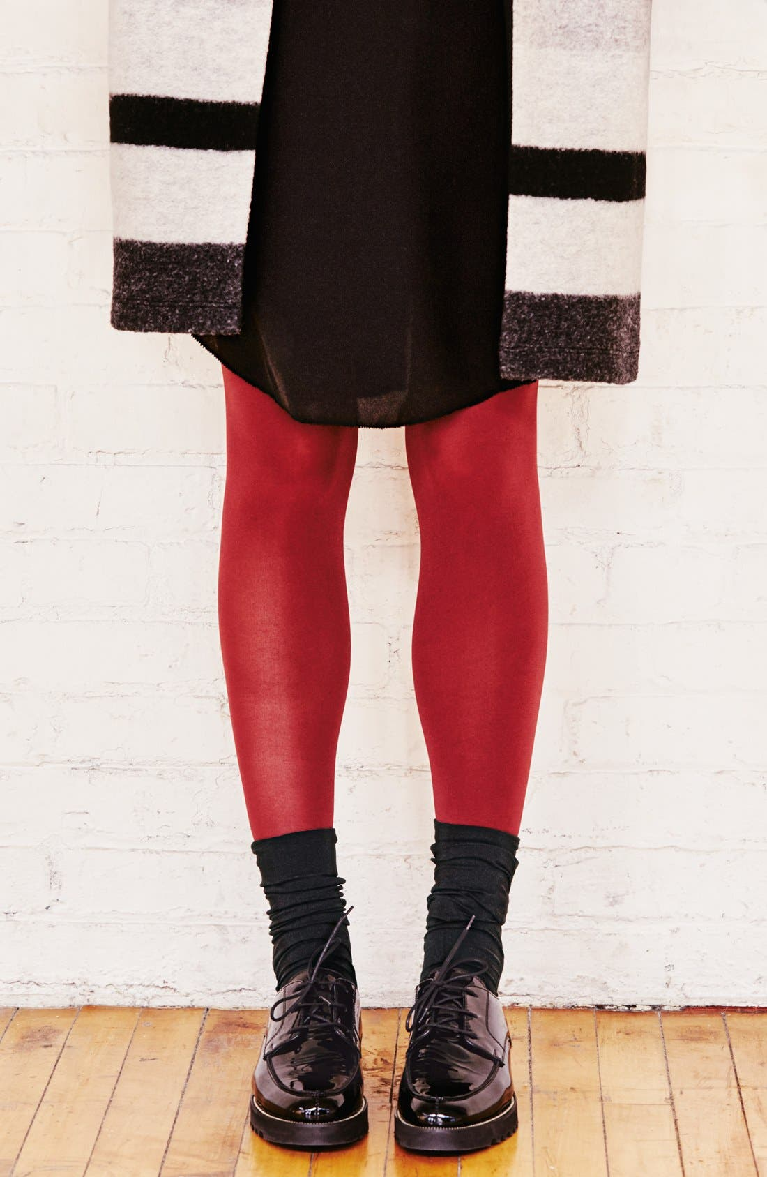Alternate Image 3  - DKNY Opaque Microfiber Knee Highs