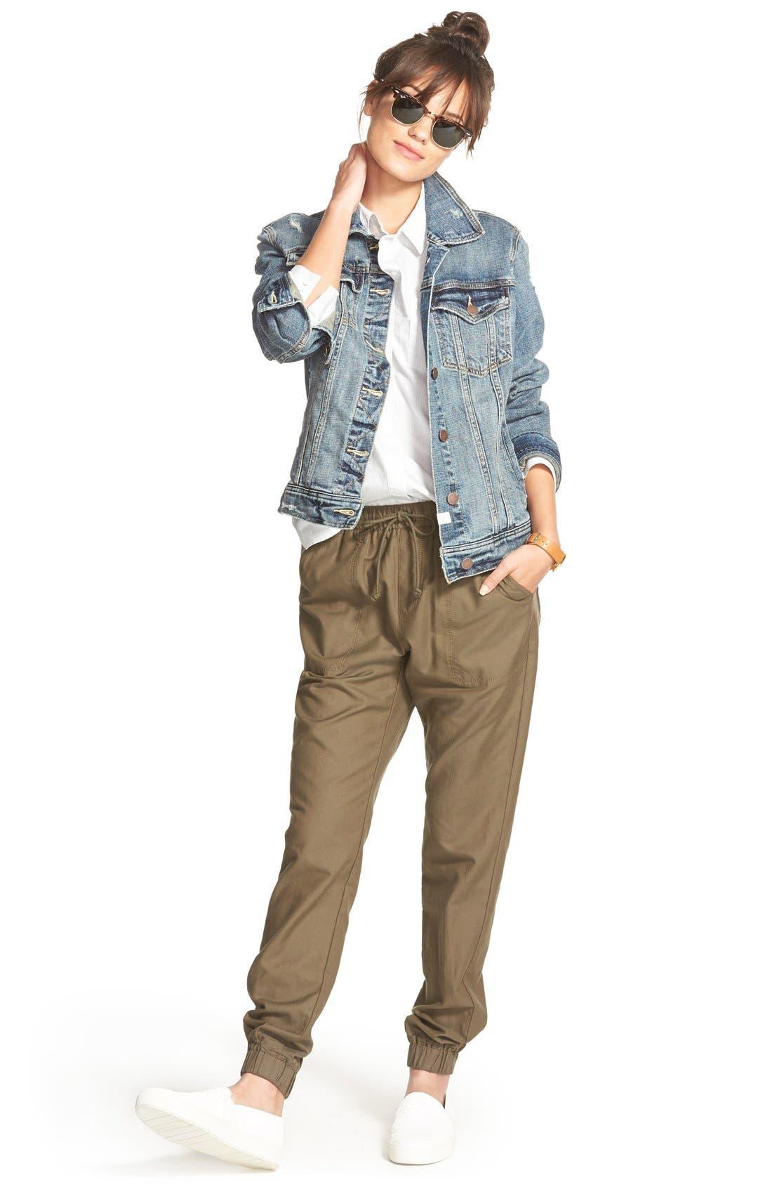 Alternate Image 2  - Treasure&Bond Twill Jogger Pants