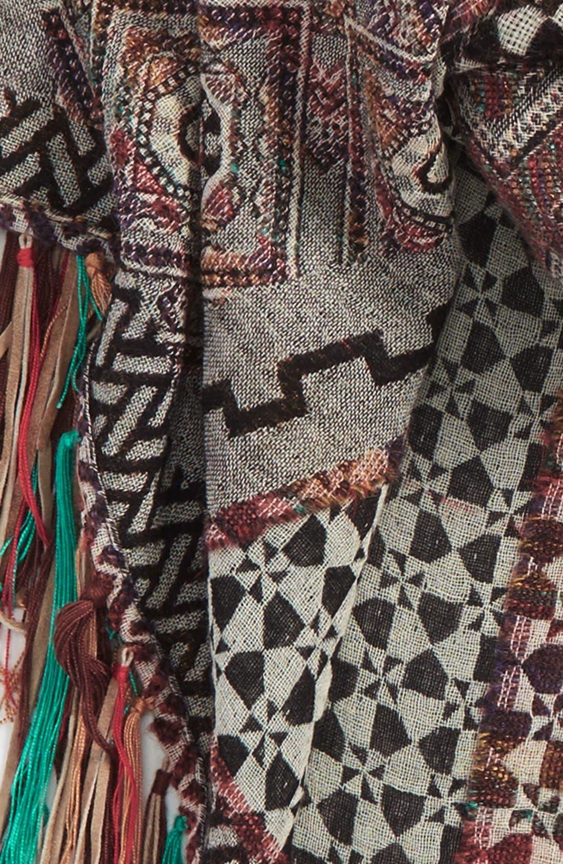 Alternate Image 3  - VismayaAztec Print Fringe TrimScarf