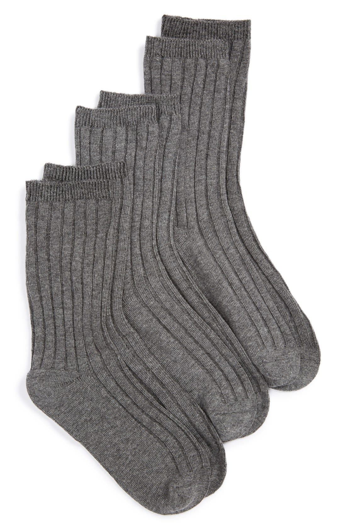 Alternate Image 1 Selected - Nordstrom 3-Pack Dress Socks (Toddler Boys, Little Boys & Big Boys)