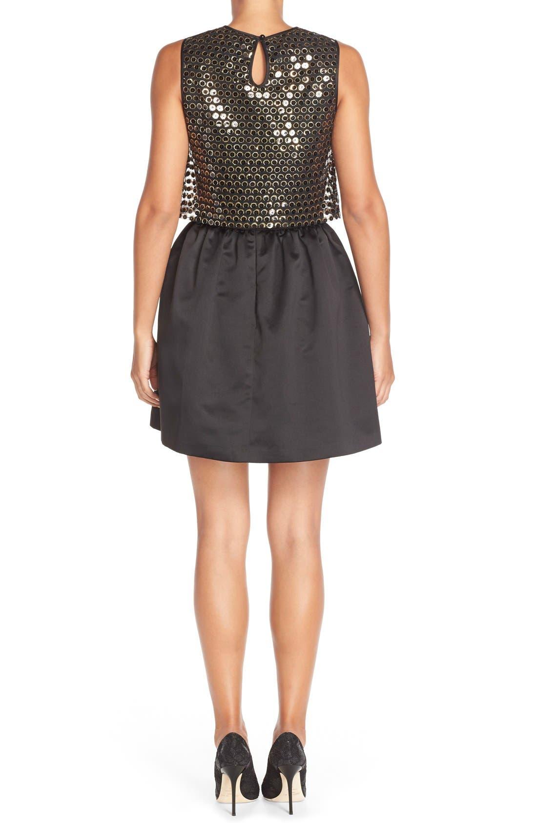 Alternate Image 2  - CeCe by Cynthia Steffe 'Sandy' Sequin Popover Dress