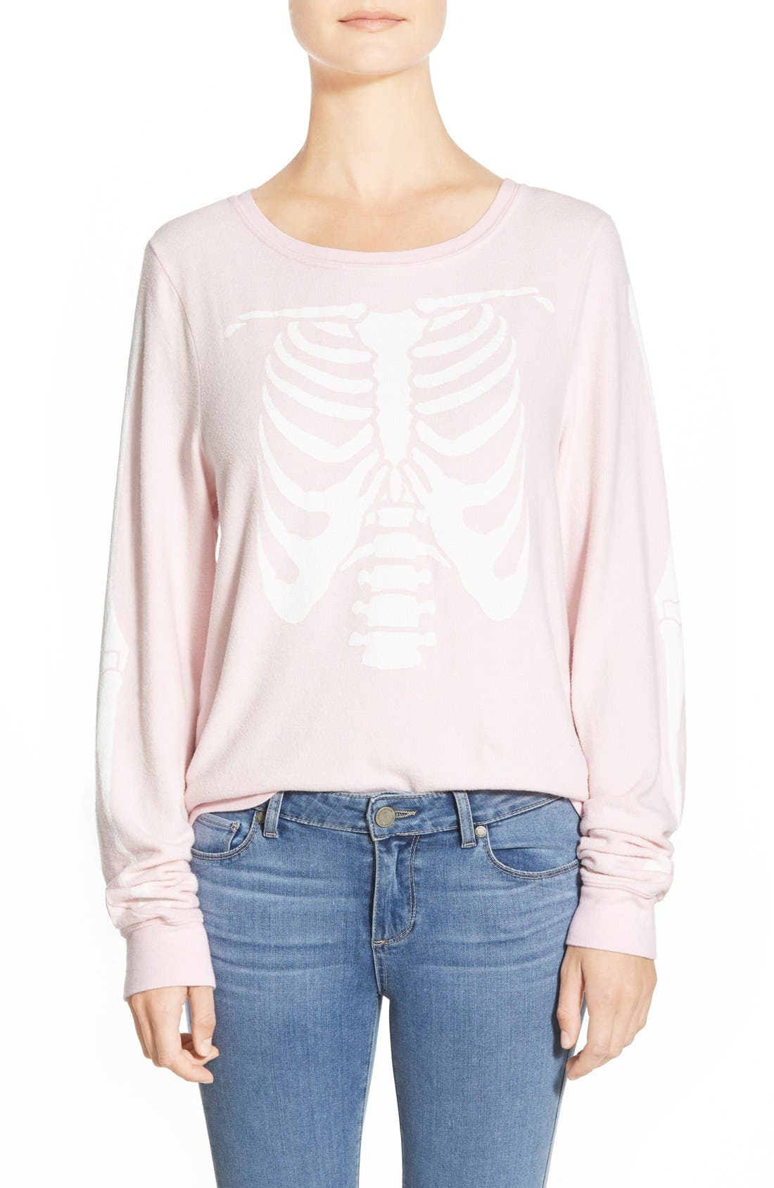 Alternate Image 1 Selected - Wildfox 'Inside Out' Long Sleeve Sweatshirt