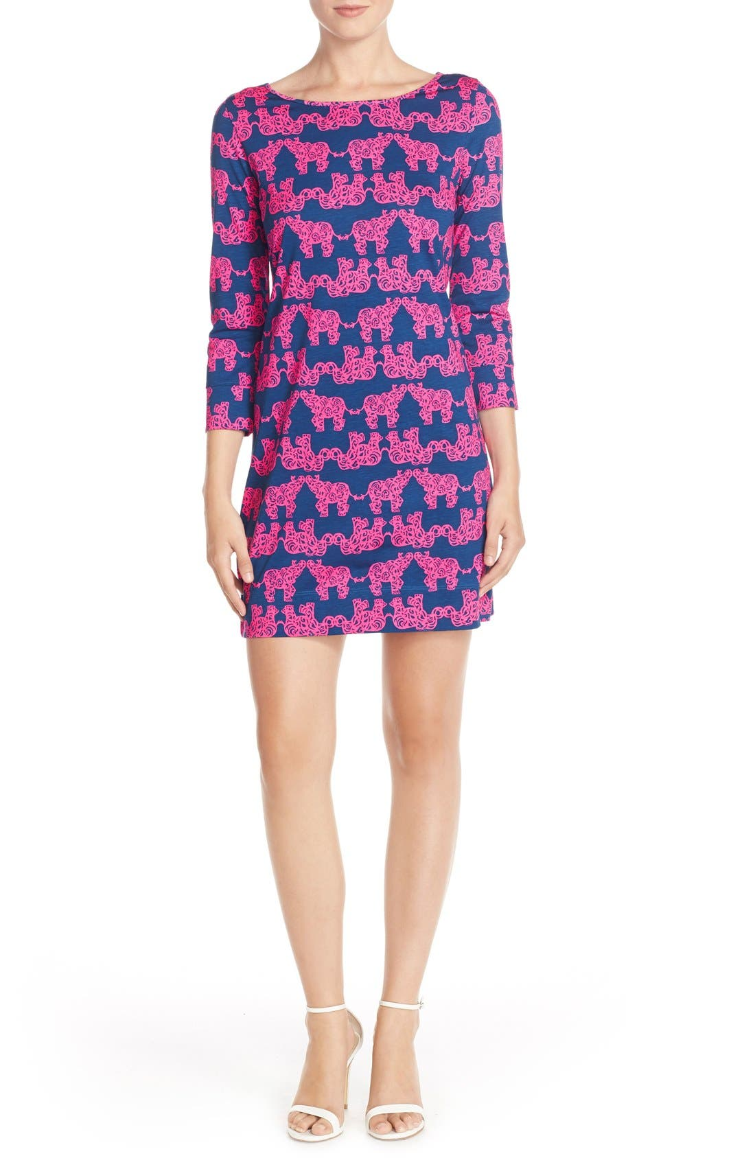 Alternate Image 4  - Lilly Pulitzer® 'Marlowe' Elephant Print Pima Cotton Minidress