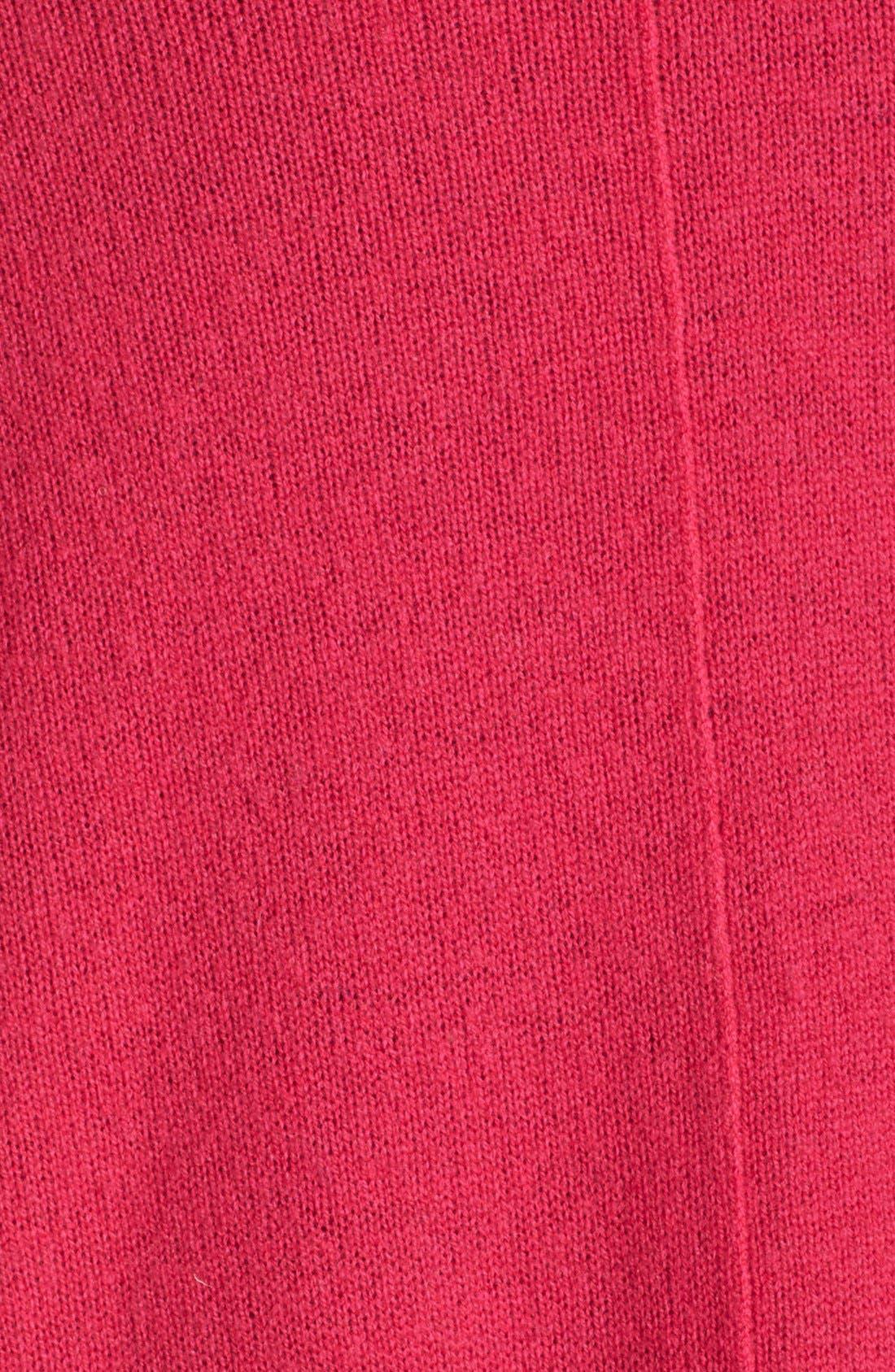 Alternate Image 5  - Sejour Wool & Cashmere Trapeze Cardigan (Plus Size)