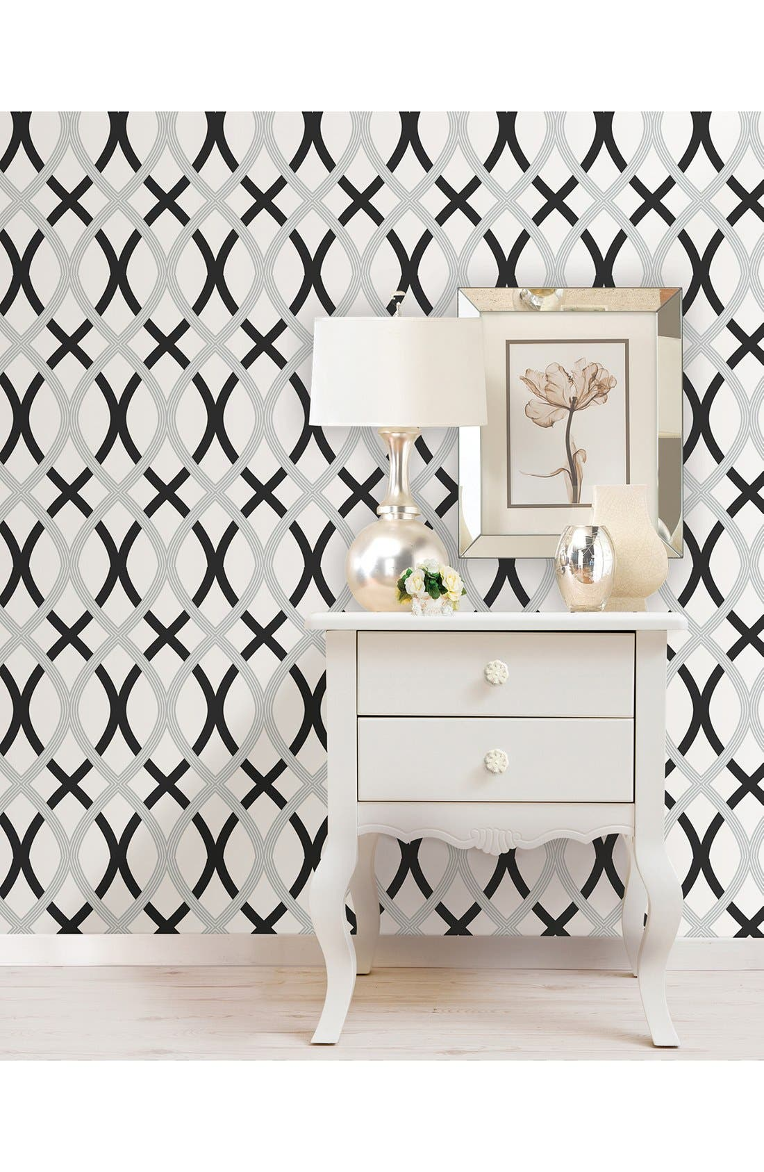 Alternate Image 2  - Wallpops Geometric Print Reusable Peel & Stick Vinyl Wallpaper