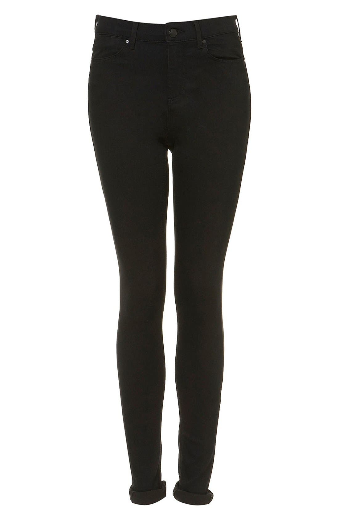 Alternate Image 4  - Topshop 'Leigh' High Rise Skinny Jeans (Tall)