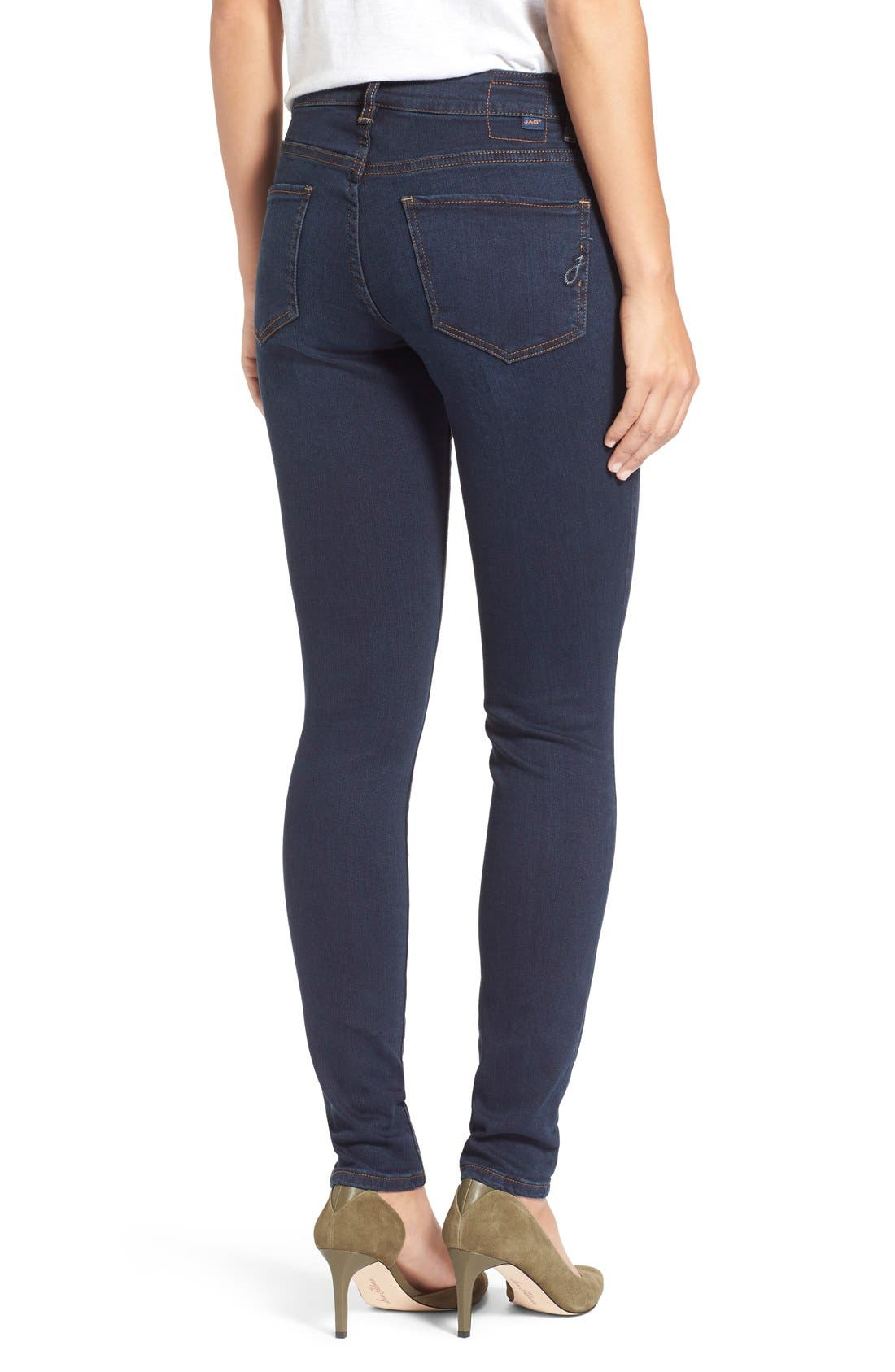 Alternate Image 2  - Jag Jeans'Westlake' StretchSkinnyJeans (Indigo Steel)