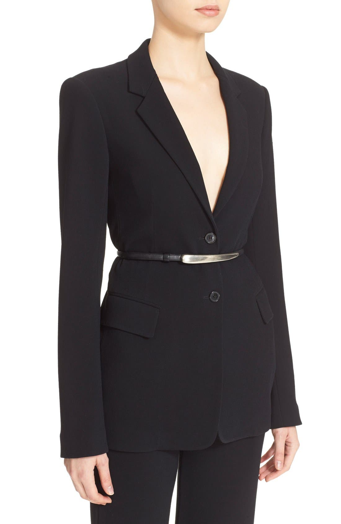Alternate Image 5  - Donna Karan New York Element Hardware Belted Blazer