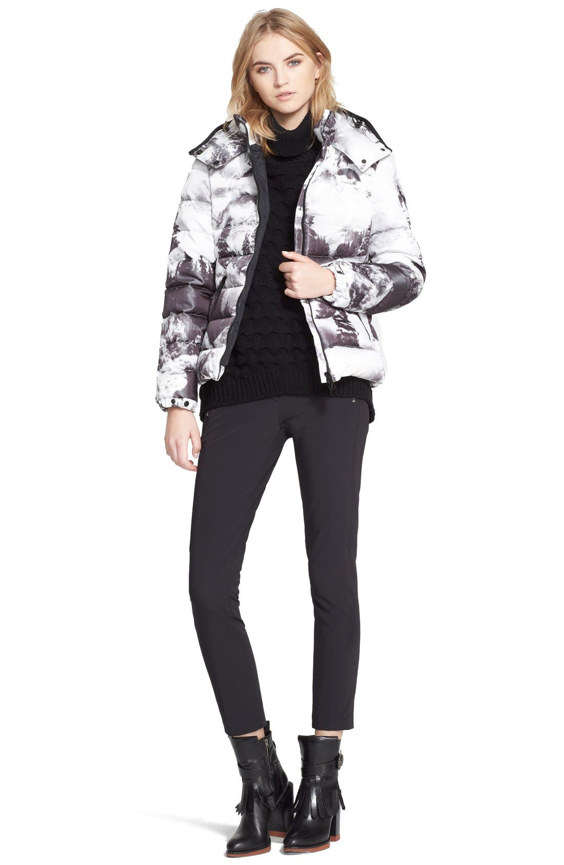 Alternate Image 3  - Moncler 'Abbadia' Forest Print Hooded Down Puffer Coat