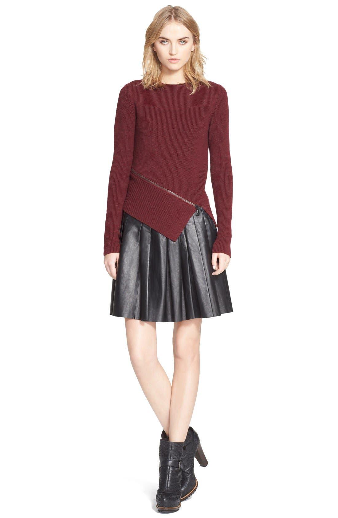 Alternate Image 1 Selected - Belstaff 'Baylee' Zip Detail Wool Sweater