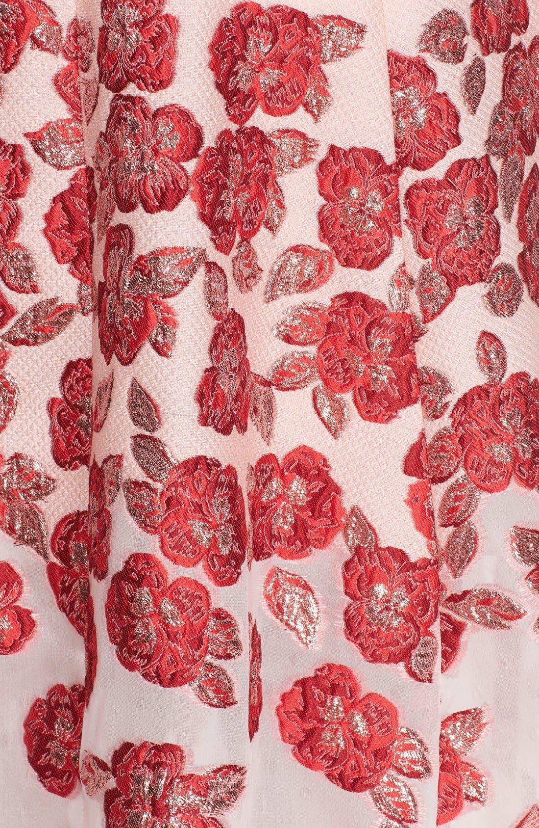 Alternate Image 3  - Lela Rose Strapless Floral FilCoupéGown