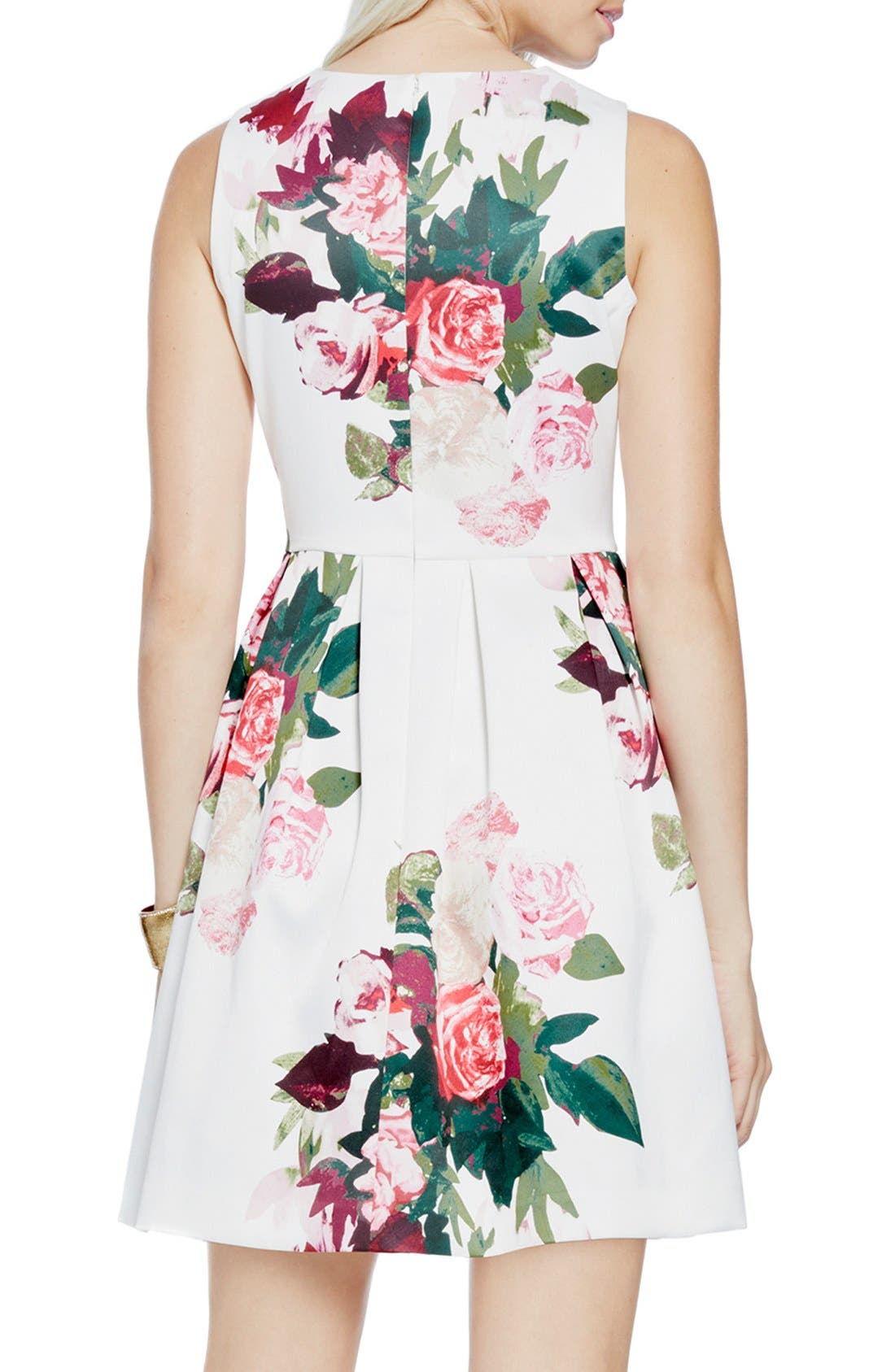Alternate Image 2  - Vince Camuto 'Rose Bouquet' Fit & Flare Dress