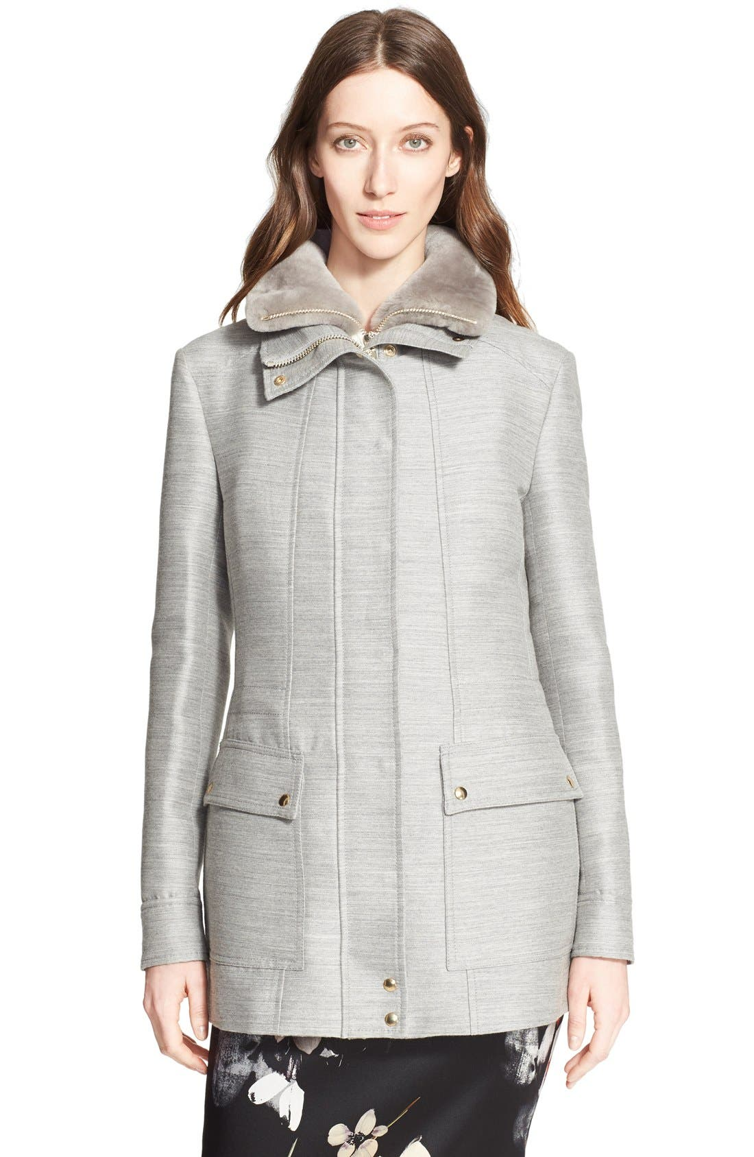 Alternate Image 5  - Nordstrom Signature and Caroline Issa 2-in-1 Parka with Genuine Shearling Collar