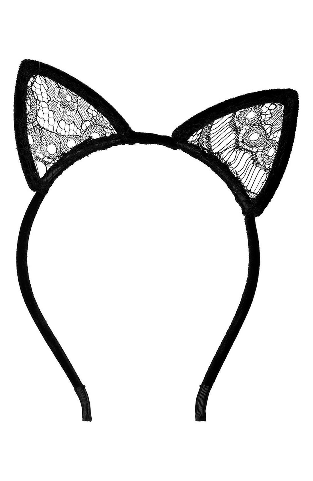 Alternate Image 2  - Topshop Velvet Cat Ears Headband