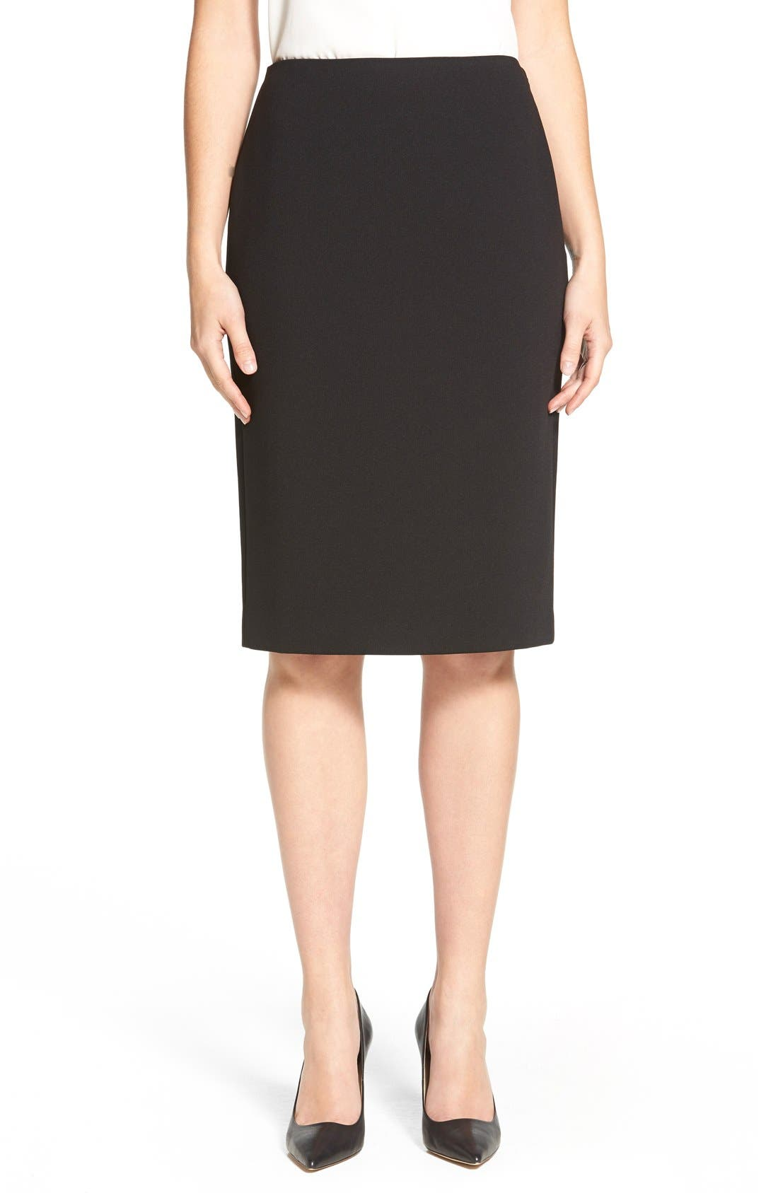 Main Image - Classiques Entier® Zip Back Ponte Pencil Skirt