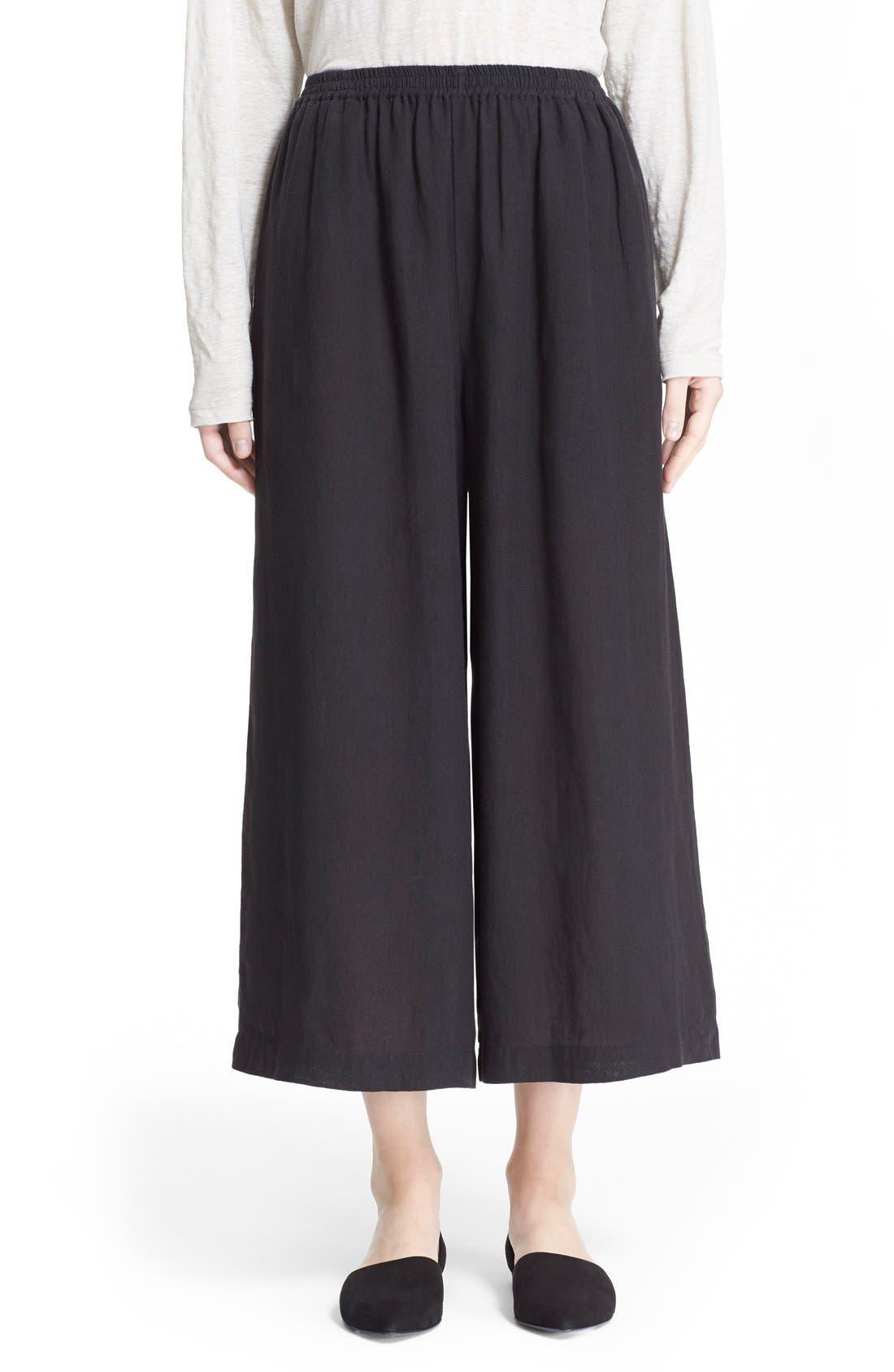 Alternate Image 1 Selected - eskandarHandkerchief Linen Flare Crop Pants