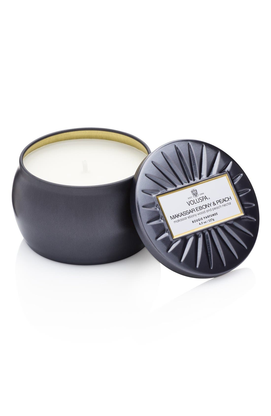 Voluspa 'Vermeil - Makassar Ebony & Peach' Mini Tin Candle
