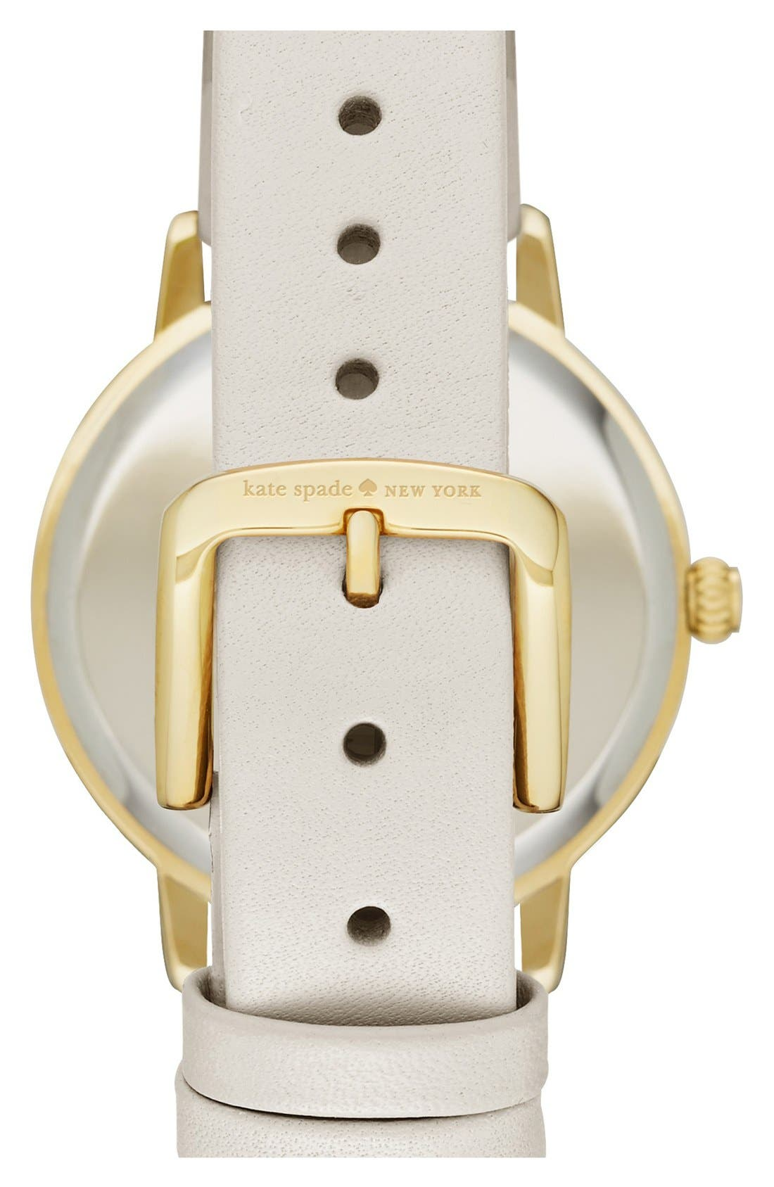 Alternate Image 2  - kate spade new york 'birds on a wire - metro' leather strap watch, 34mm