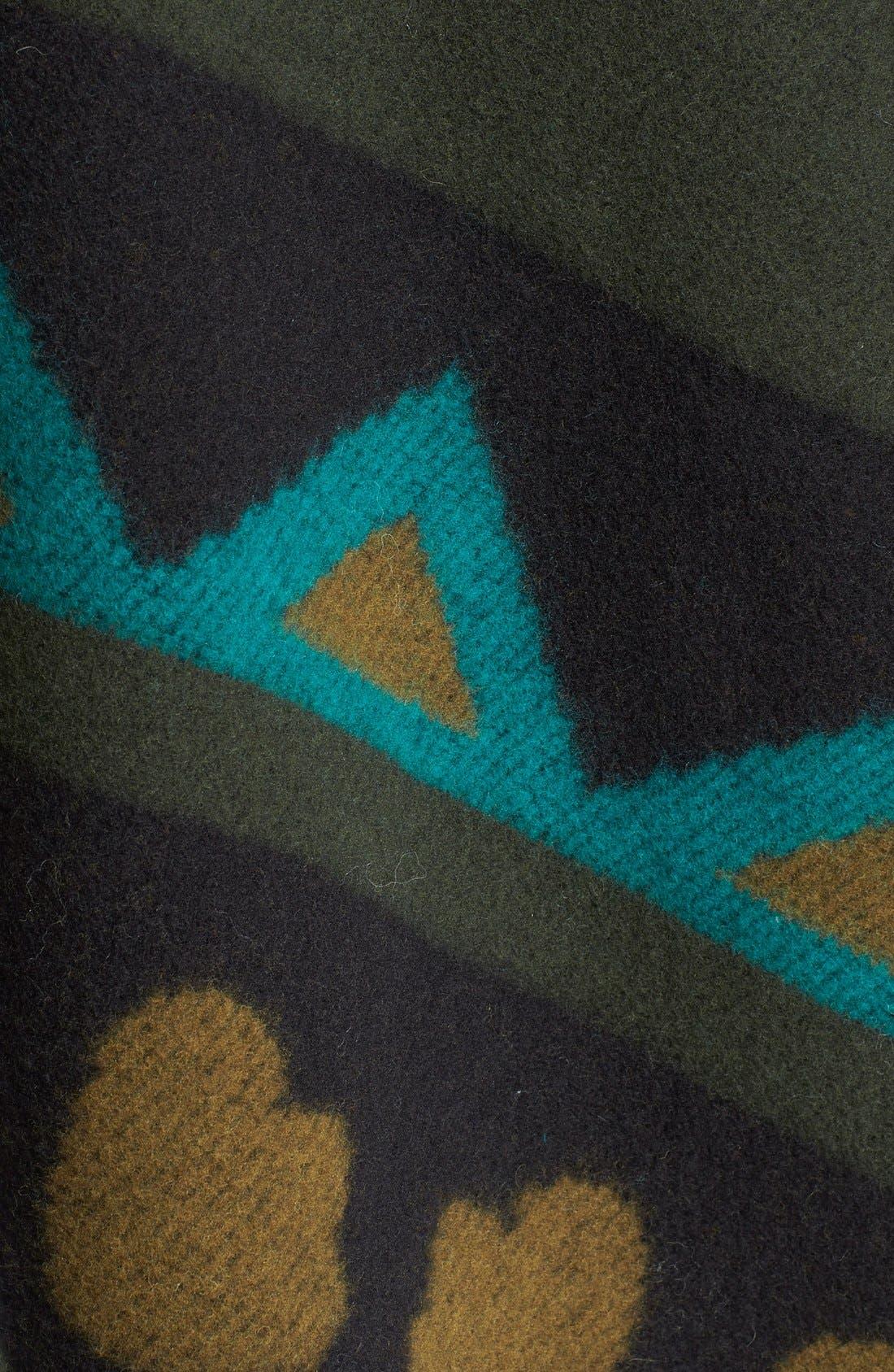 Alternate Image 3  - Burberry Brit Angular Patchwork Wool & CashmerePoncho