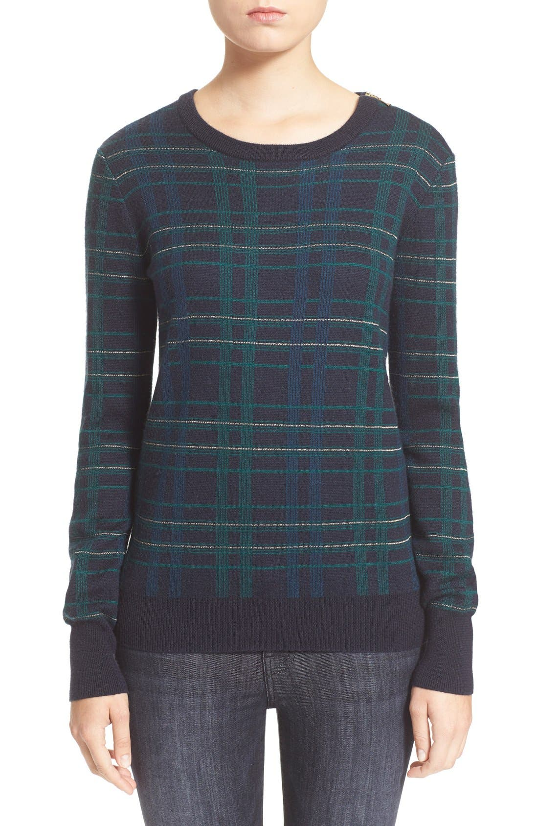 Main Image - Equipment 'Ondine' Plaid Wool Pullover