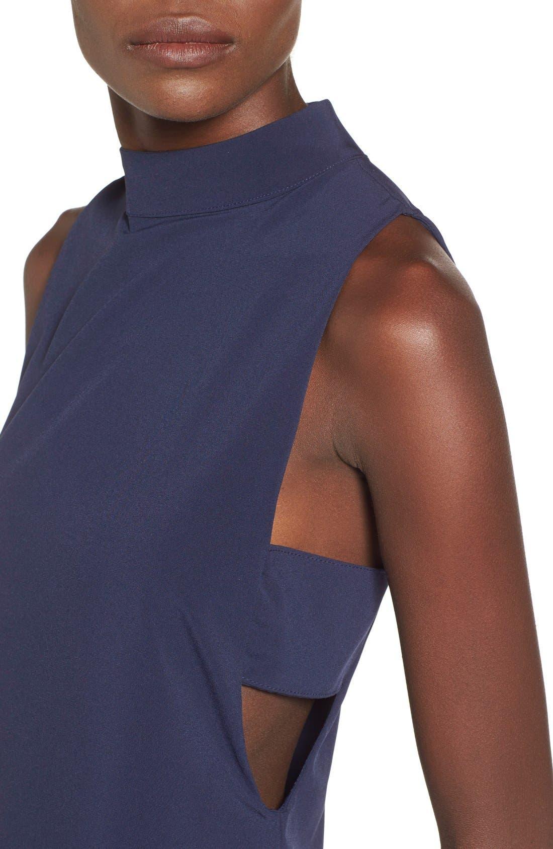 Alternate Image 4  - 4SI3NNA 'Side Bar' Mock Neck Shift Dress