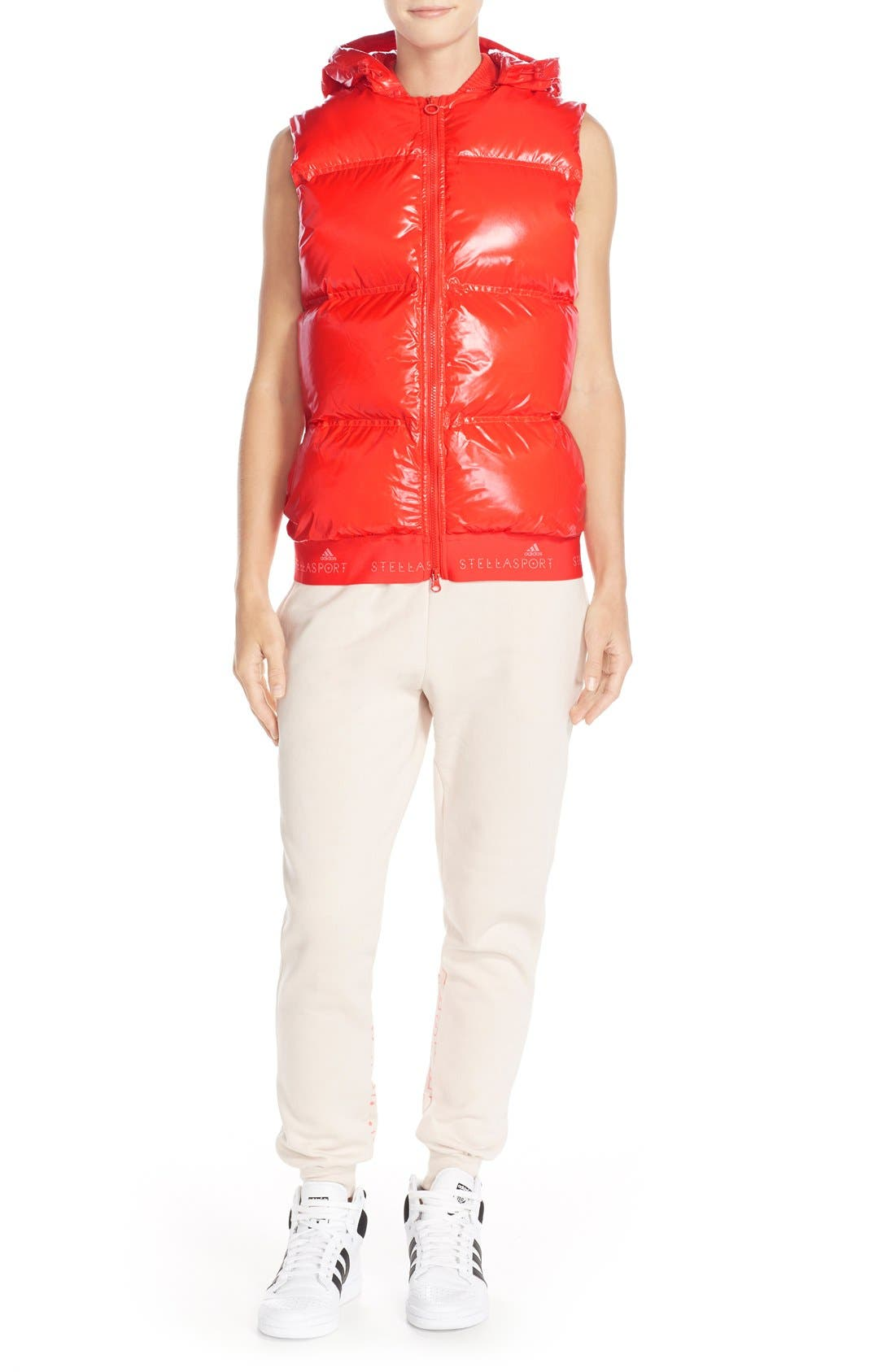 Alternate Image 5  - adidas by Stella McCartney Hooded Quilted Gilet