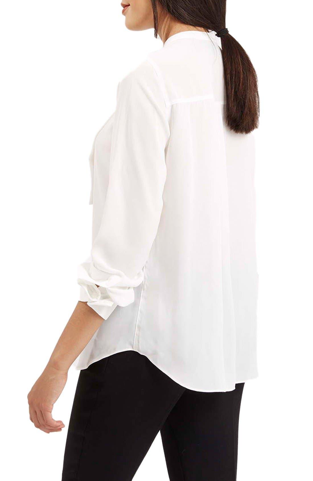 Alternate Image 2  - Topshop Pleated Bib Button Front Shirt