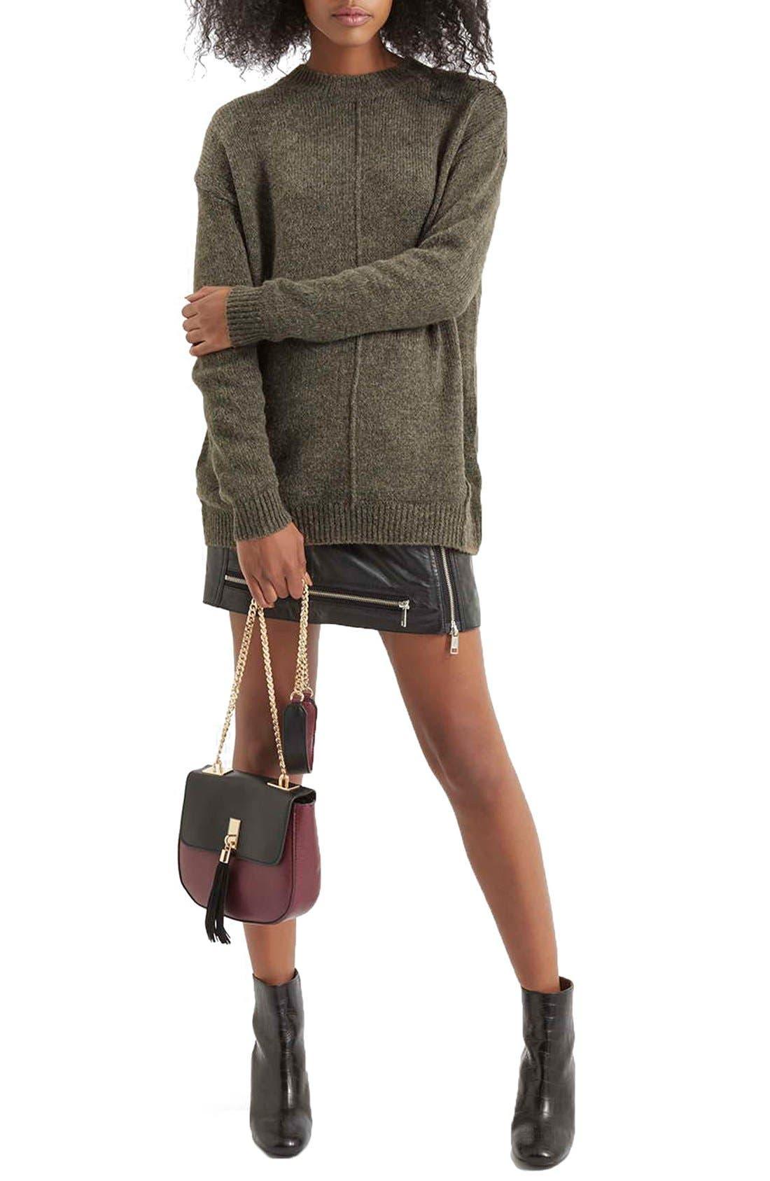 Alternate Image 5  - Topshop Longline Pullover Sweater