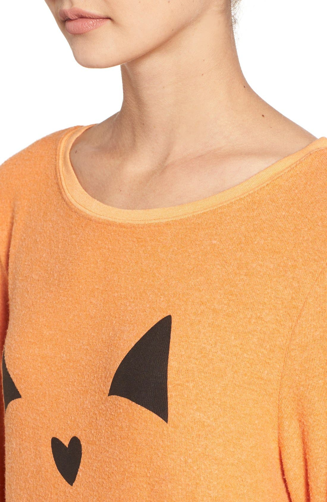 Alternate Image 5  - Wildfox'Baggy Beach Jumper -Pumpkin Love' Pullover