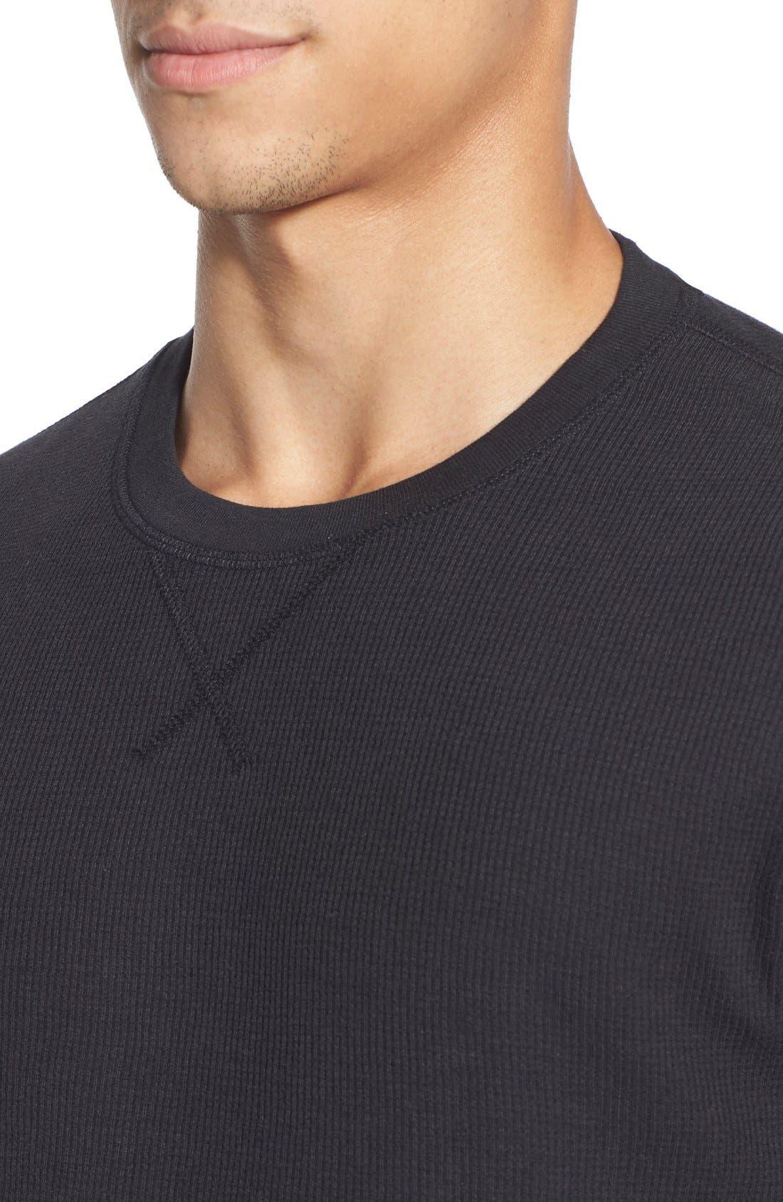 Alternate Image 4  - Nordstrom Men's Shop Waffle Knit Long Sleeve T-Shirt