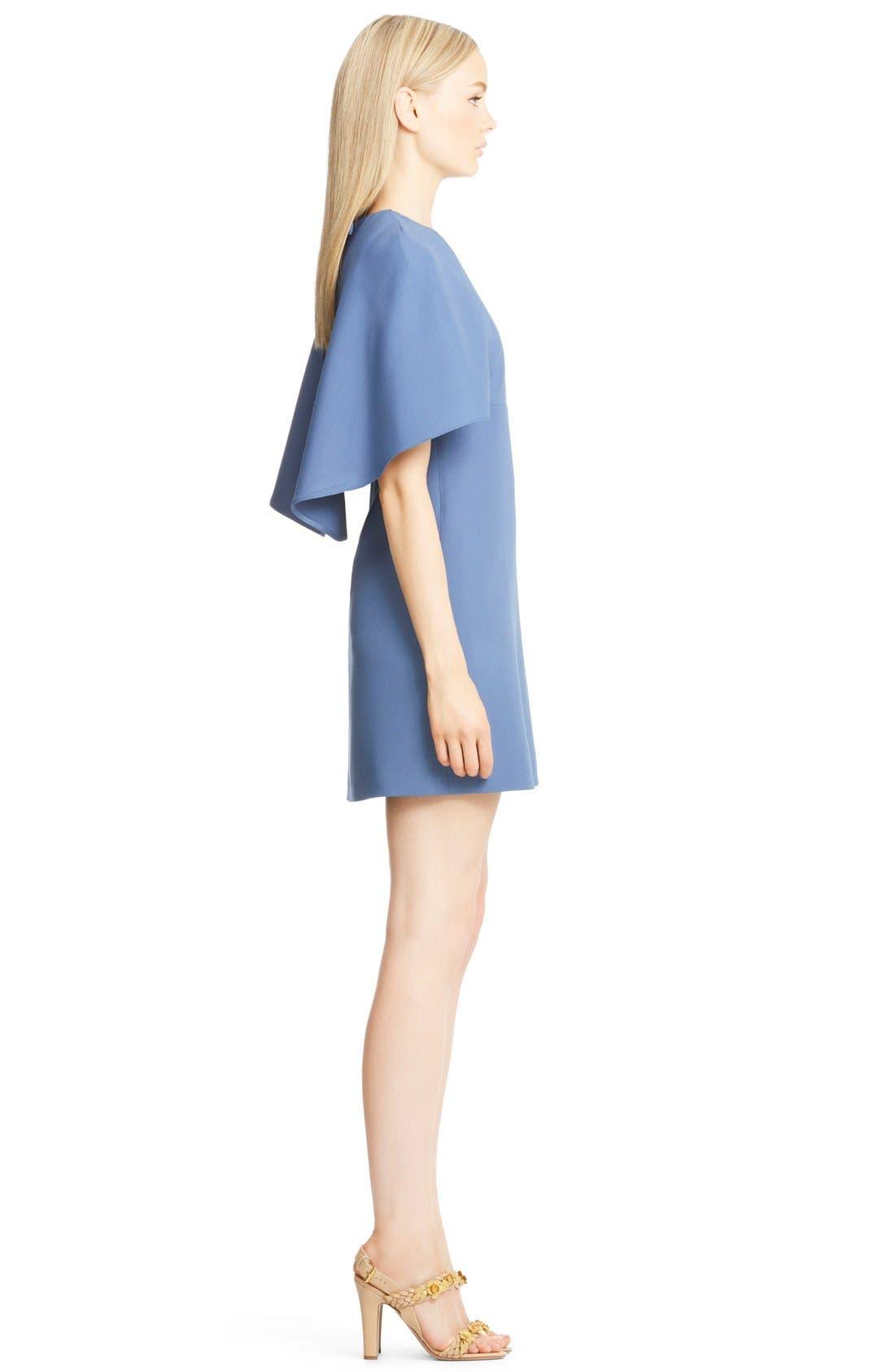 Alternate Image 4  - Valentino Cape Back Wool & Silk Sheath Dress