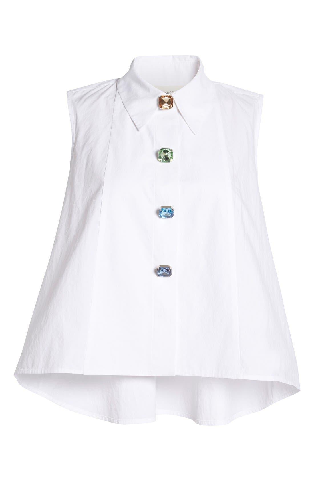 Alternate Image 4  - Isa Arfen Sleeveless A-Line Shirt