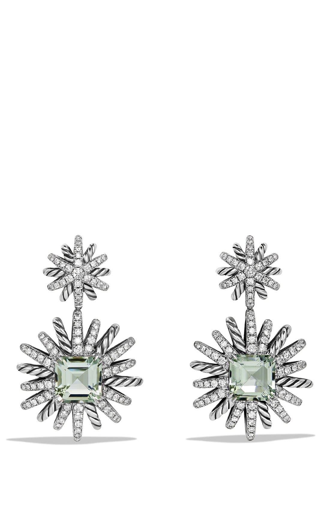 David Yurman 'Starburst' Earrings with Diamonds in Silver