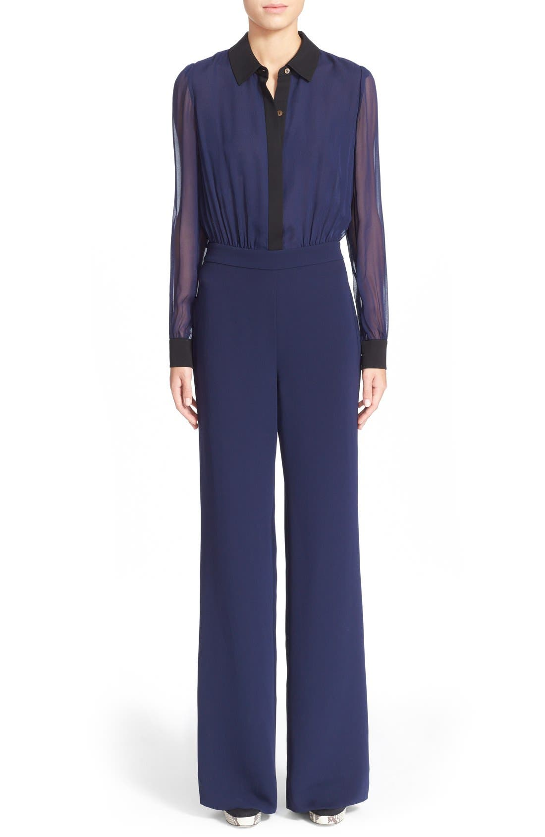 Alternate Image 1 Selected - Diane von Furstenberg 'Mariah' Silk Jumpsuit