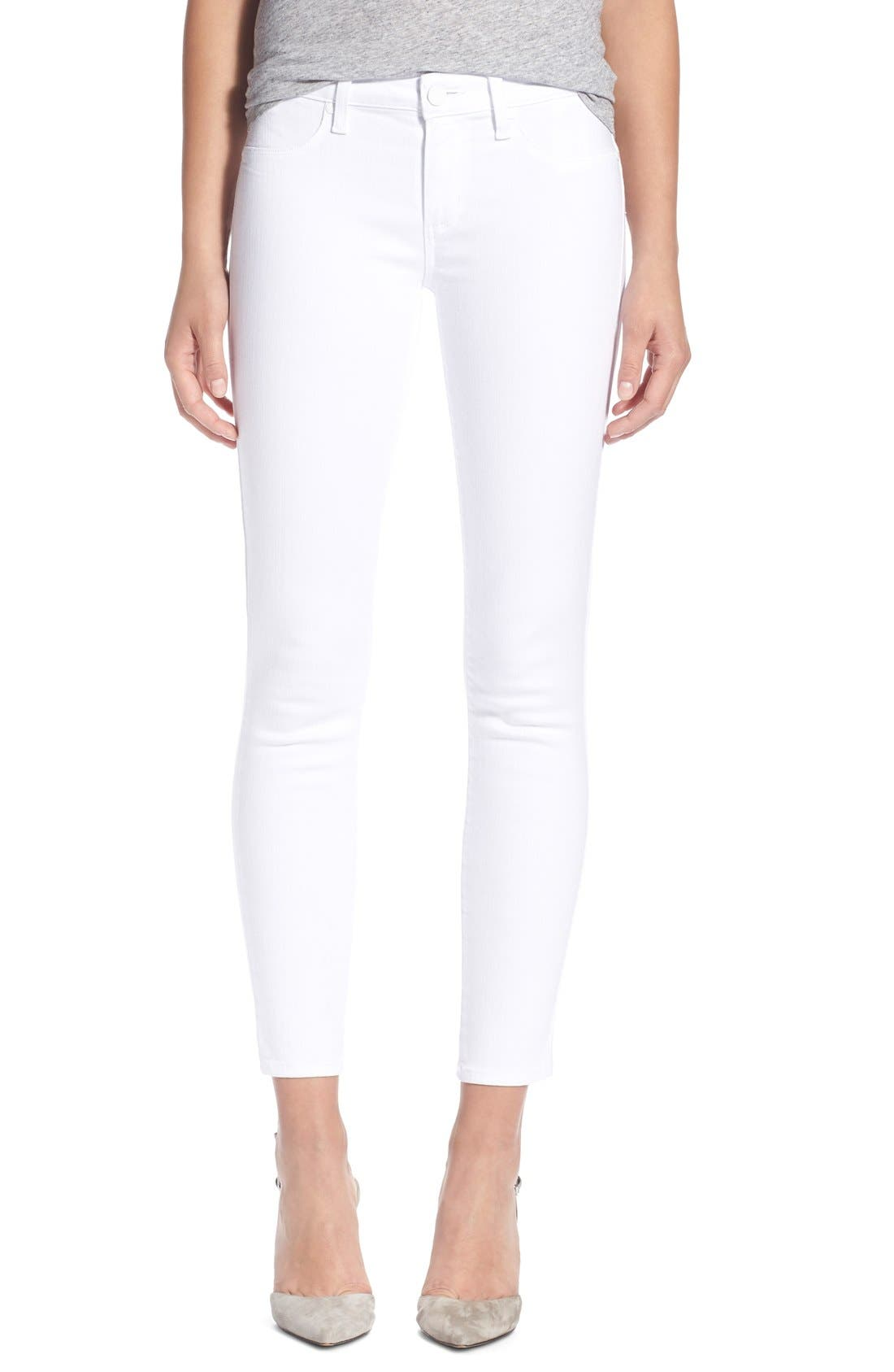 Alternate Image 1 Selected - PAIGE 'Verdugo' Ankle Skinny Jeans (Ultra White)