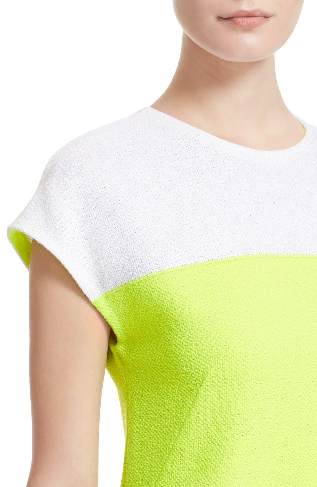 Alternate Image 6  - St. John Collection 'Nouveau' Colorblock Knit Shift Dress