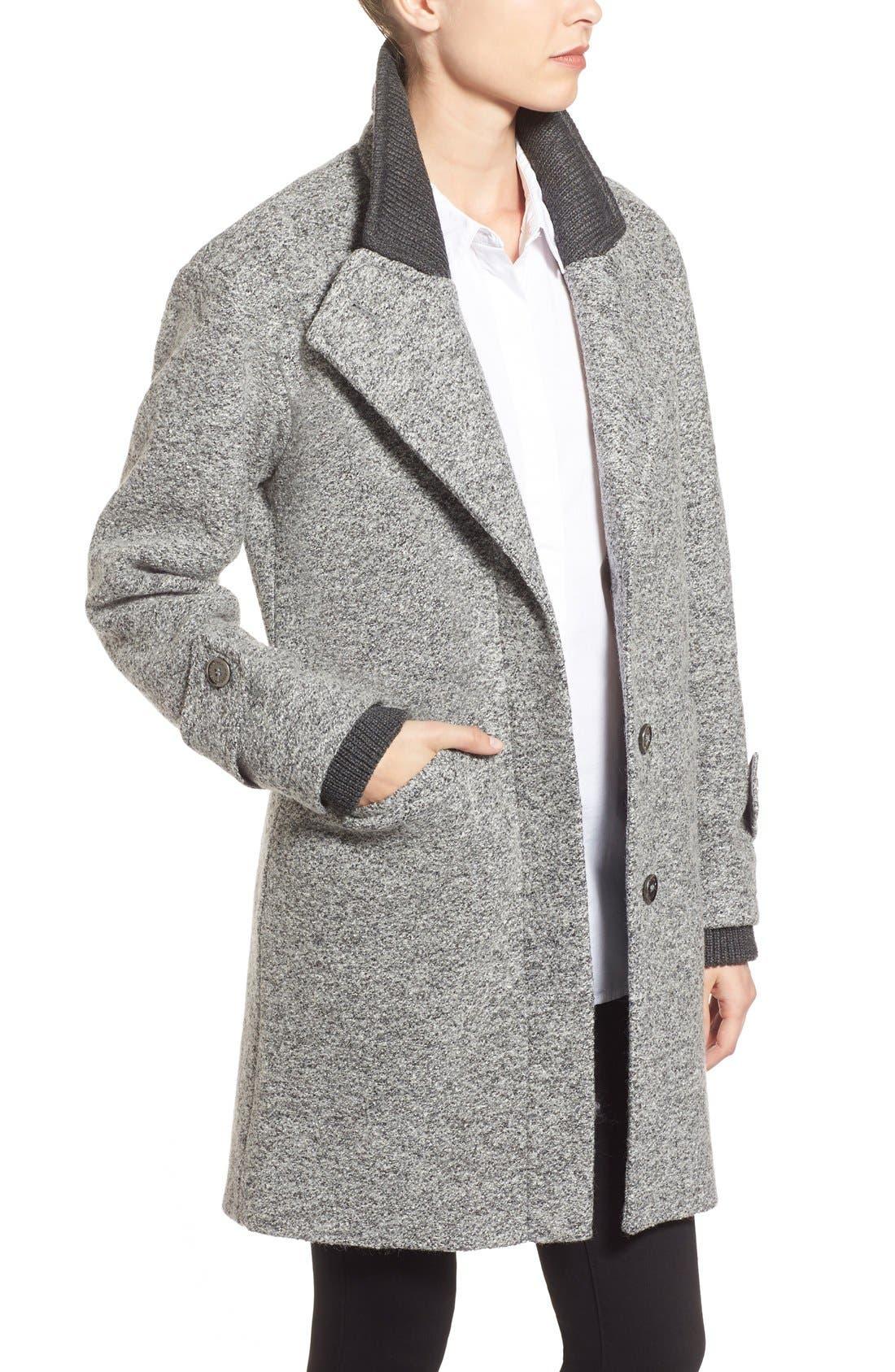 Alternate Image 4  - French Connection Tweed Boyfriend Coat
