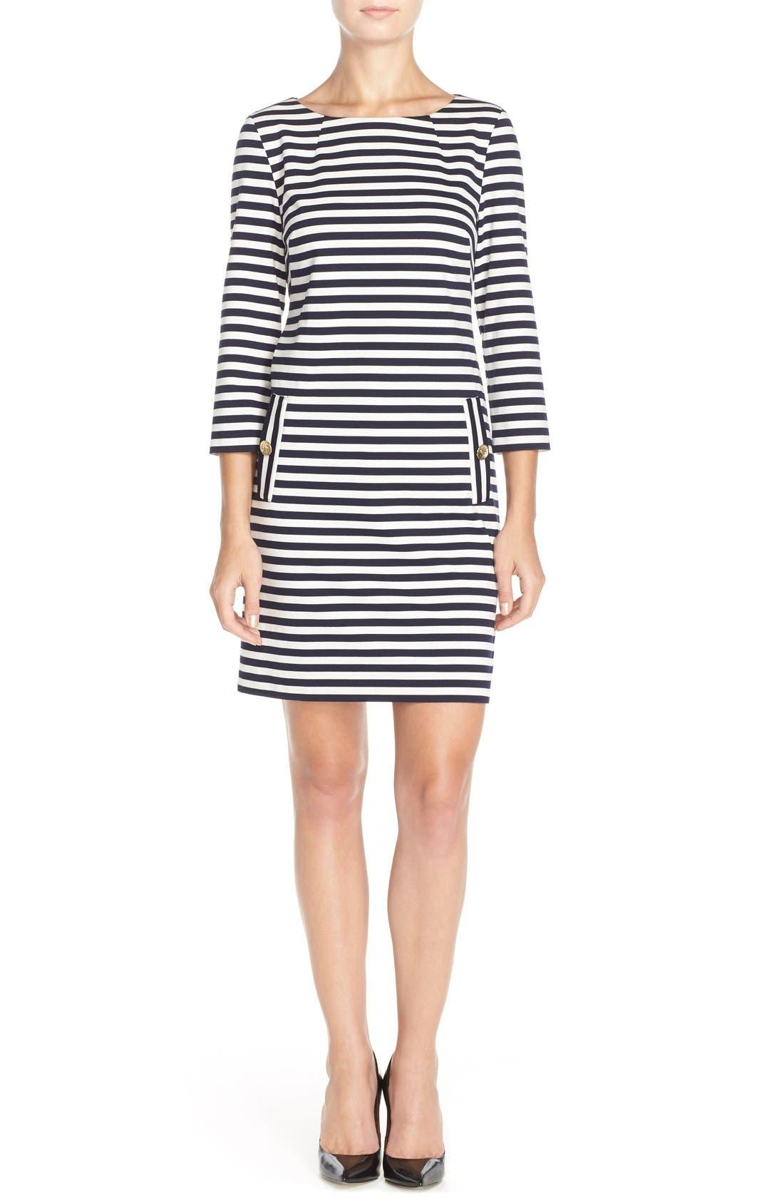 Alternate Image 4  - Eliza J Stripe Shift Dress