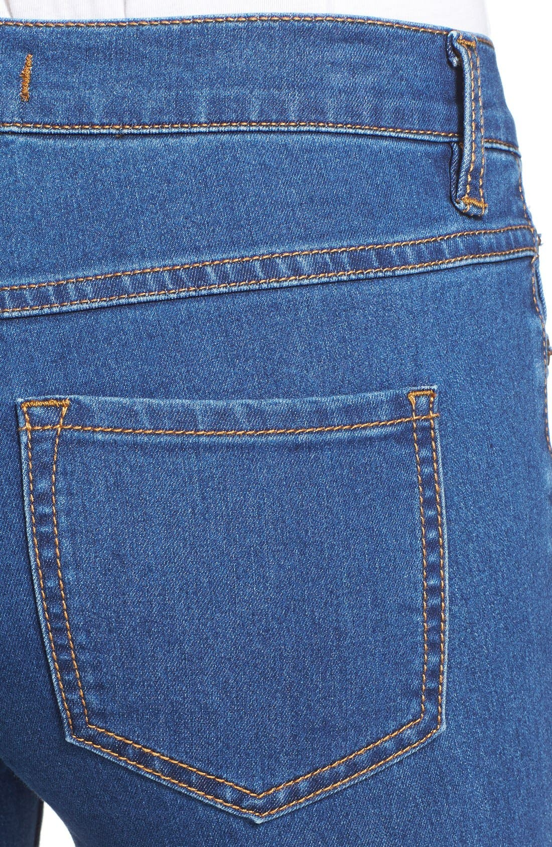 Alternate Image 4  - Free People Stretch Mid Rise Flare Jeans