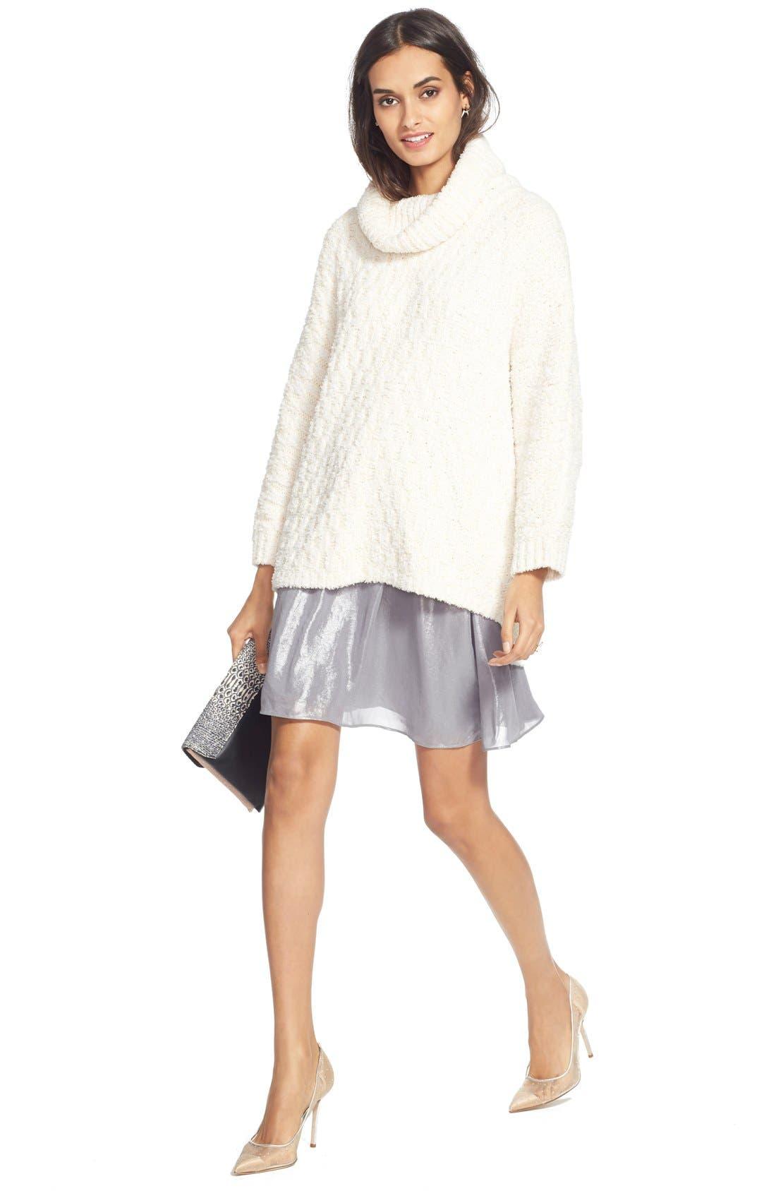 Alternate Image 6  - Chelsea28 Fluffy Turtleneck Sweater