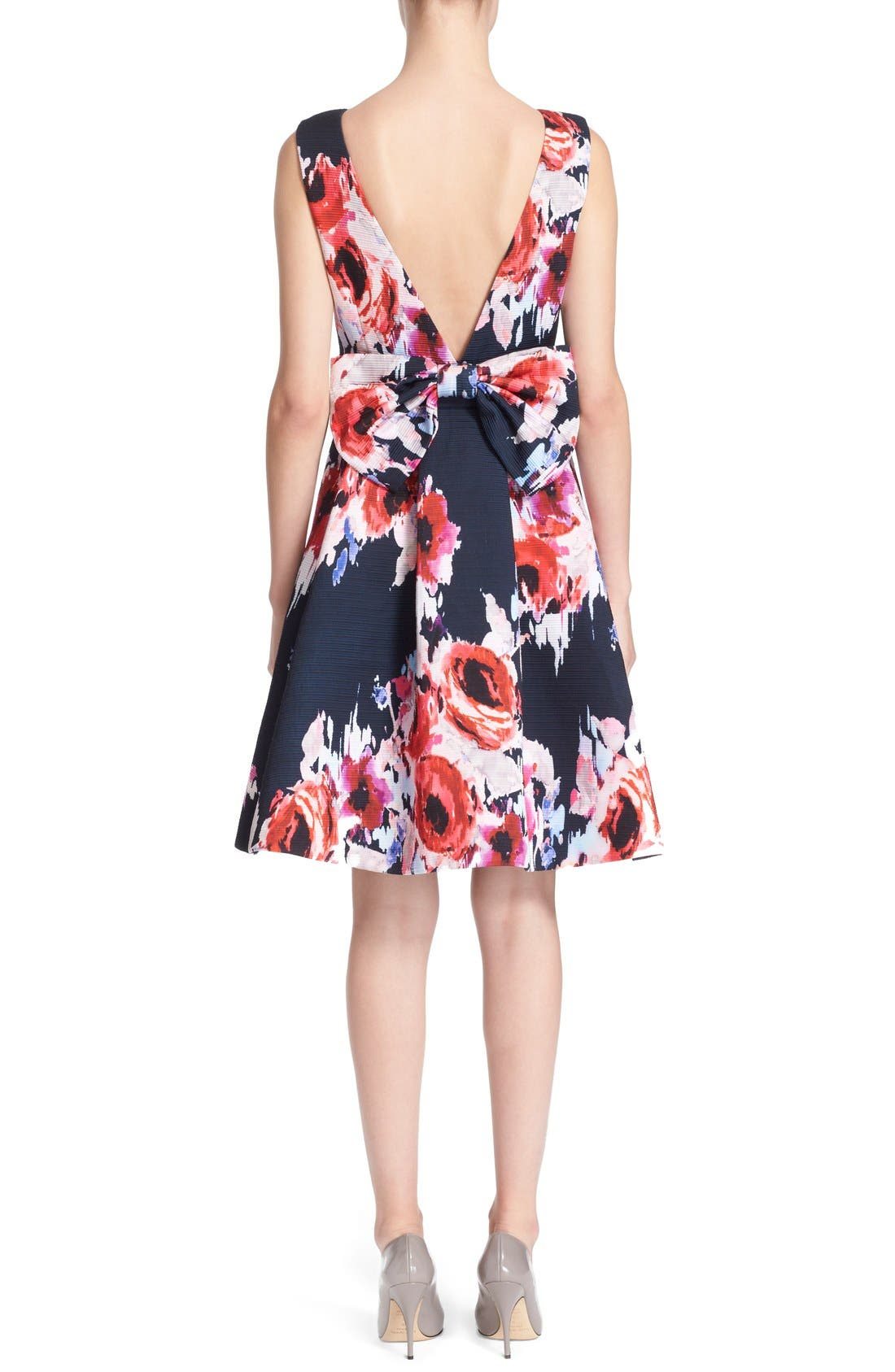 Alternate Image 2  - kate spade new york floral print fit & flare dress