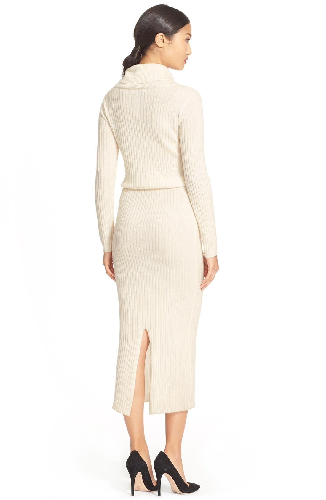 Alternate Image 2  - Alice + Olivia 'Hailee' Cowl Neck Sweater Dress